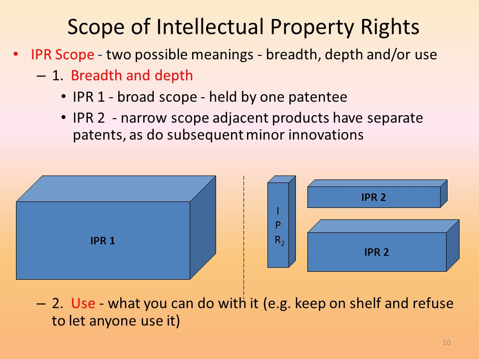 Scope of Intellectual Property Rights