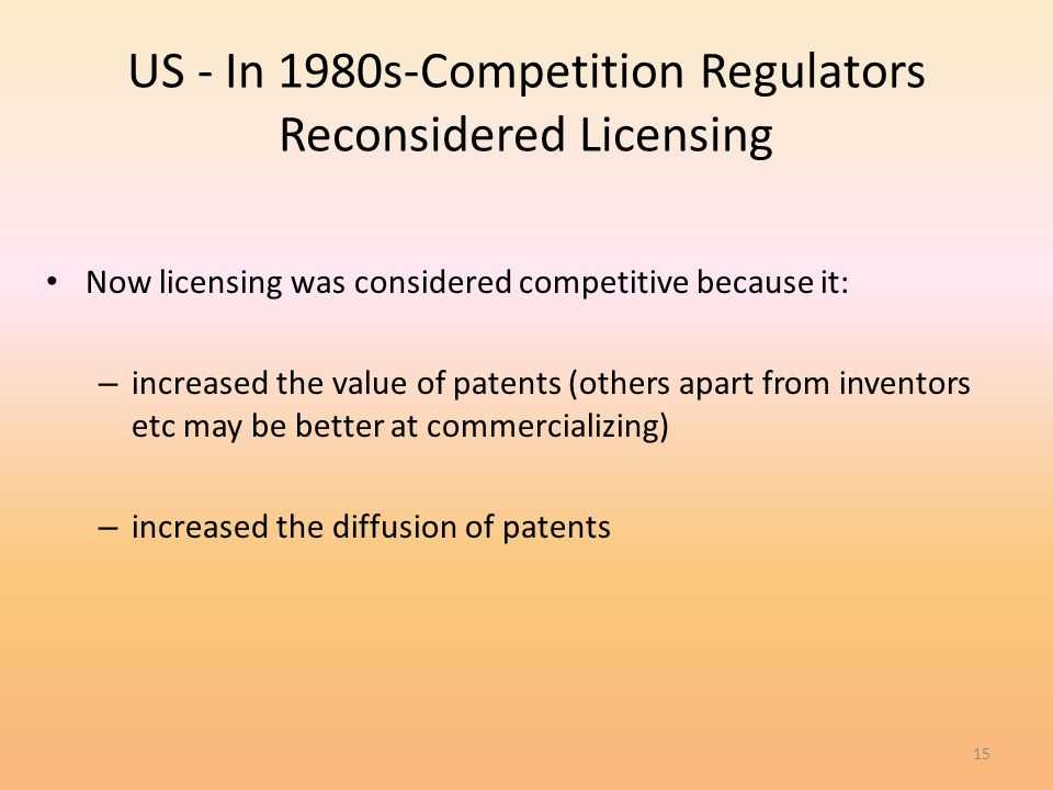 US - In 1980s-Competition Regulators Reconsidered Licensing