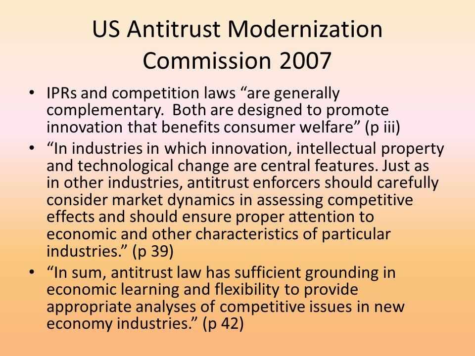 US Antitrust Modernization Commission 2007