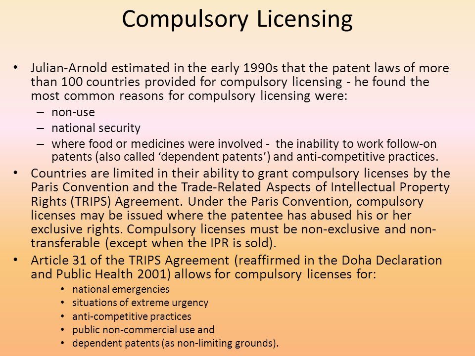 Compulsory Licensing