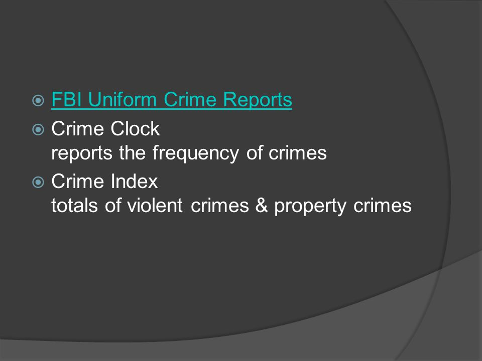 FBI Uniform Crime Reports