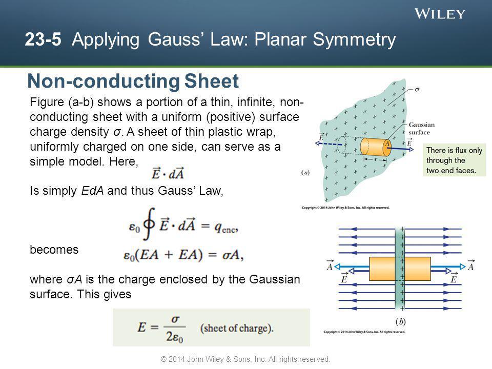 23-5 Applying Gauss' Law: Planar Symmetry