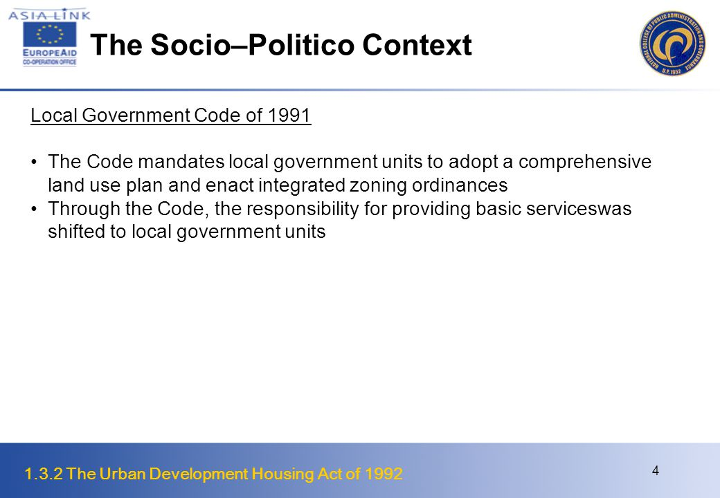 The Socio–Politico Context