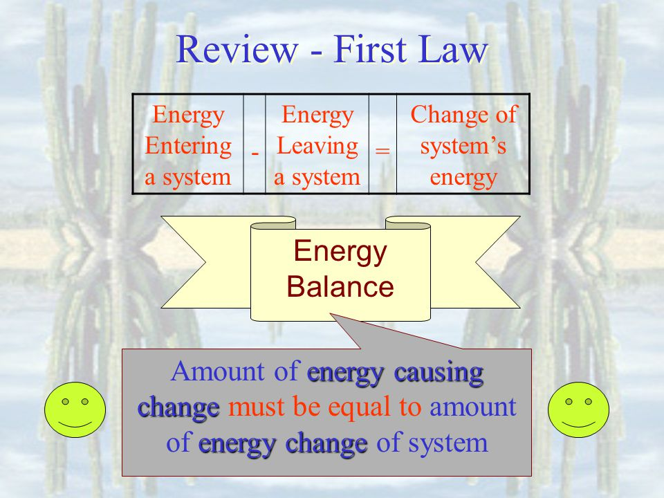 Review - First Law Energy Balance