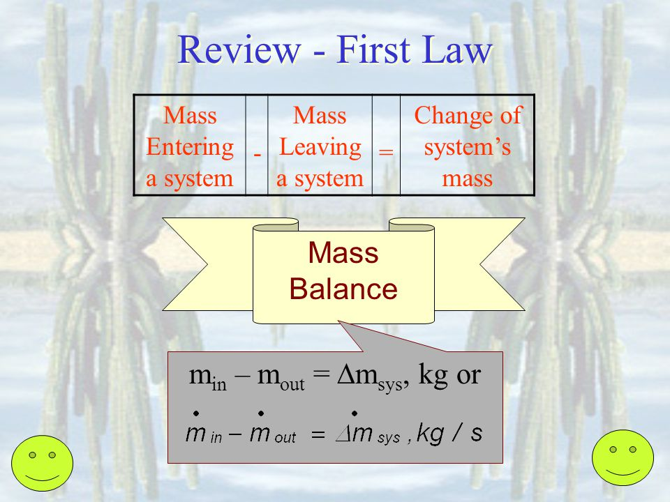 Change of system's mass