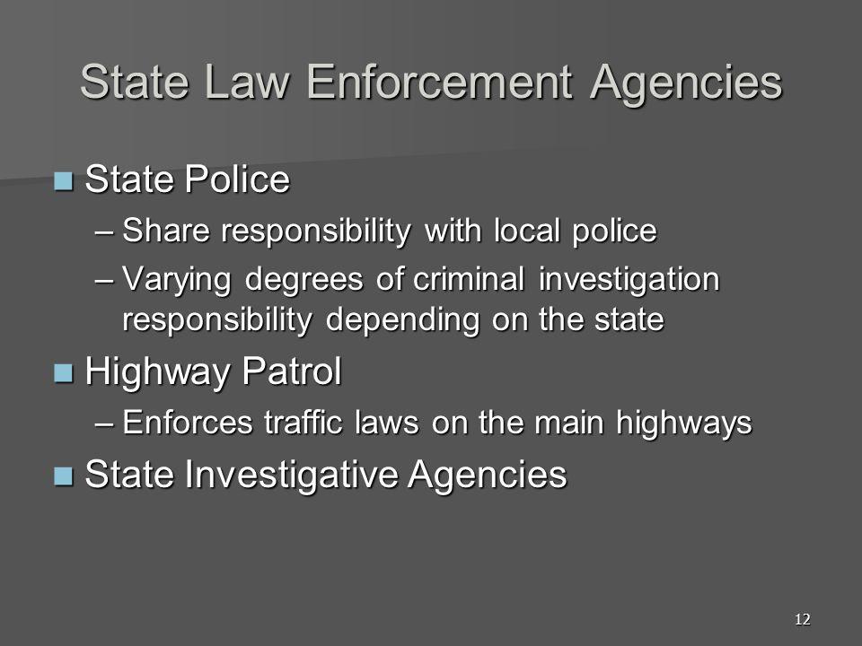 State Law Enforcement Agencies