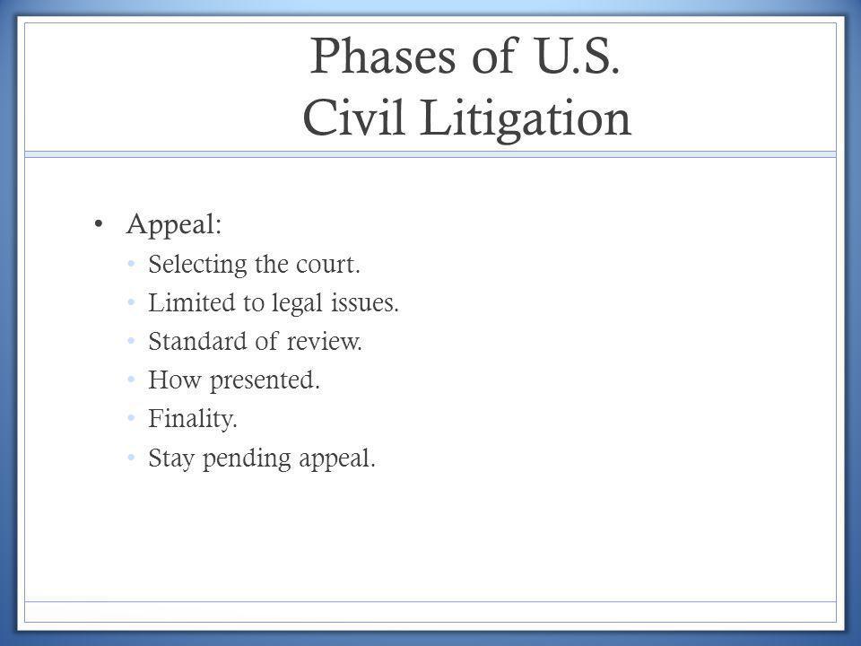 Phases of U.S. Civil Litigation