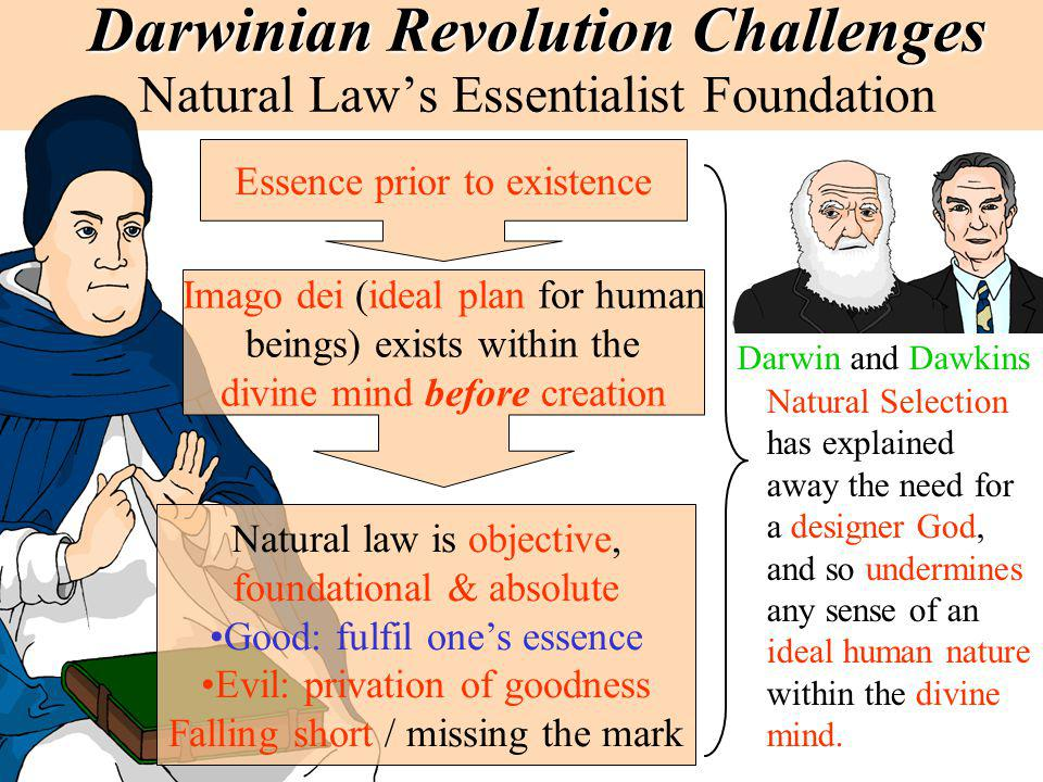 Darwinian Revolution Challenges Natural Law's Essentialist Foundation