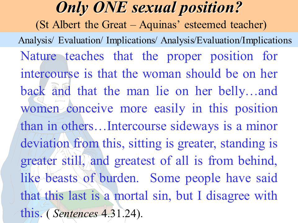 Only ONE sexual position
