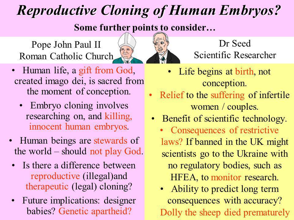 Reproductive Cloning of Human Embryos