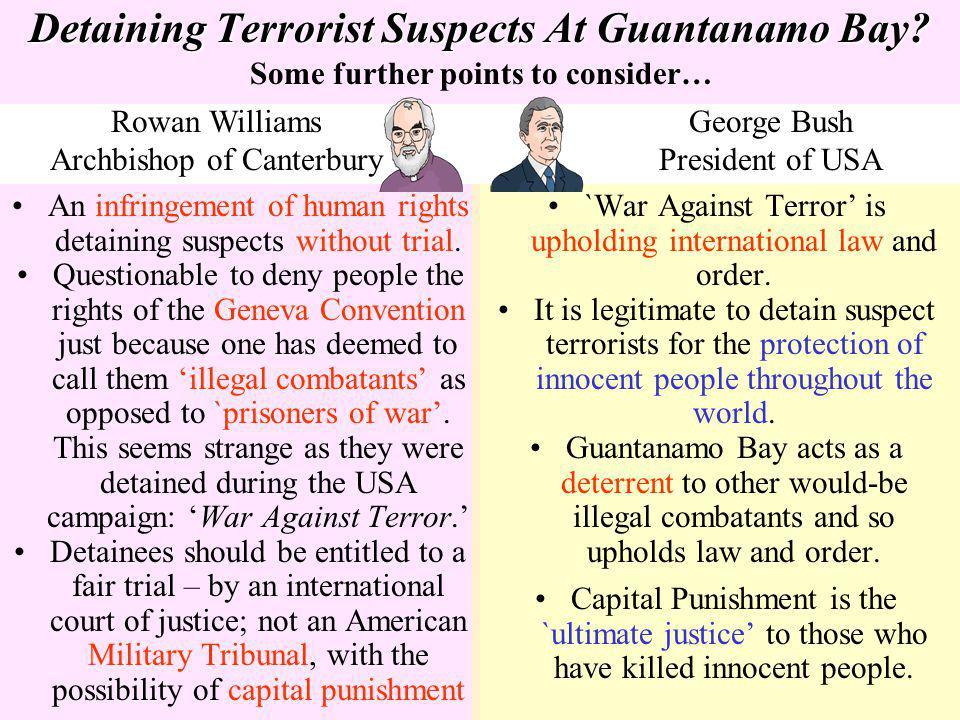 Detaining Terrorist Suspects At Guantanamo Bay
