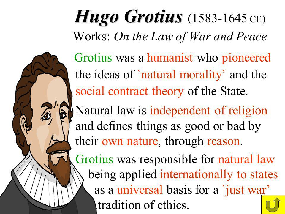 Hugo Grotius (1583-1645 CE) Works: On the Law of War and Peace