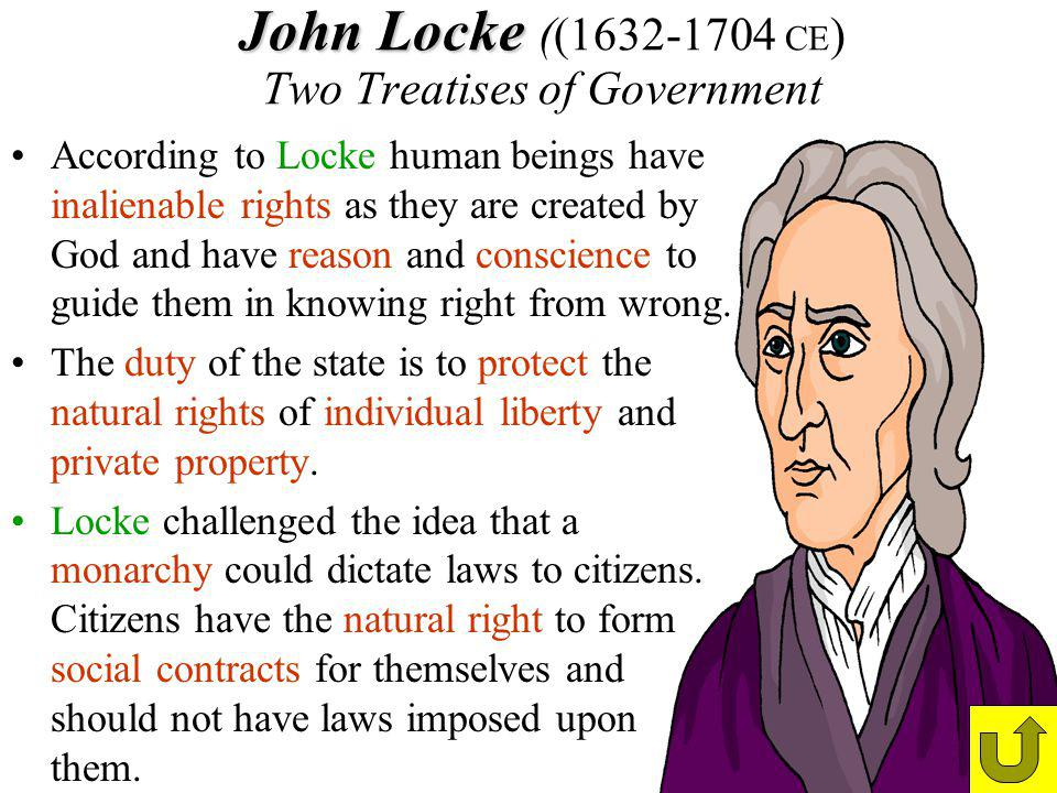 John Locke ((1632-1704 CE) Two Treatises of Government