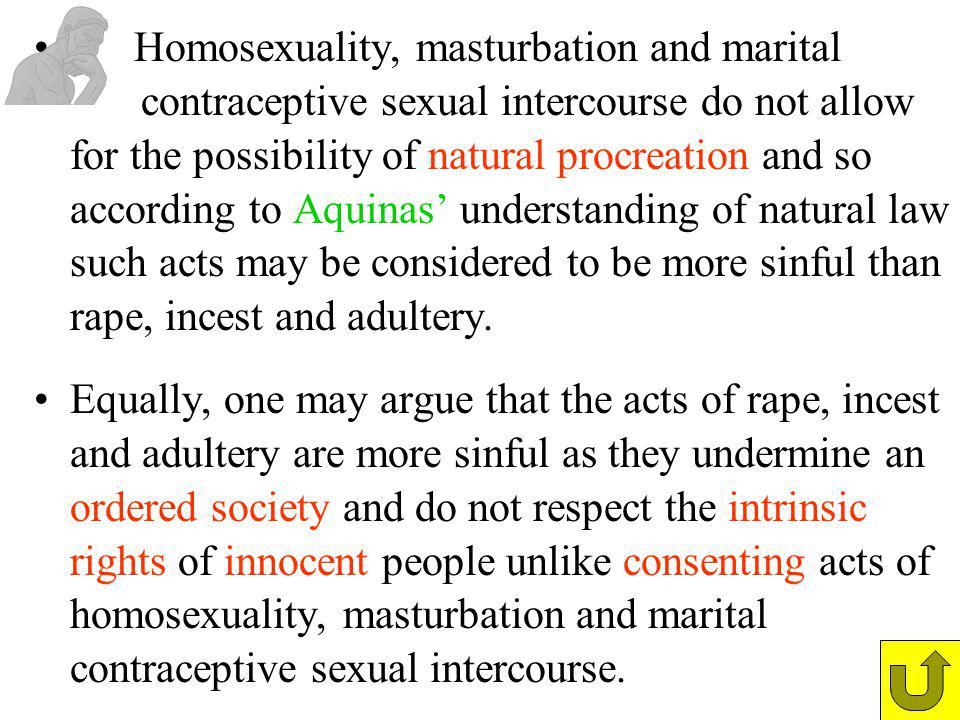 Homosexuality, masturbation and marital