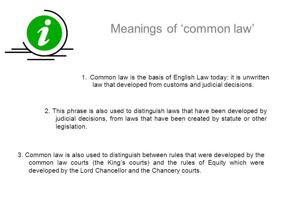Meanings of 'common law'