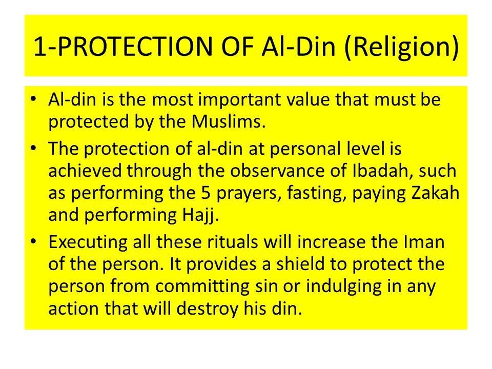 1-PROTECTION OF Al-Din (Religion)