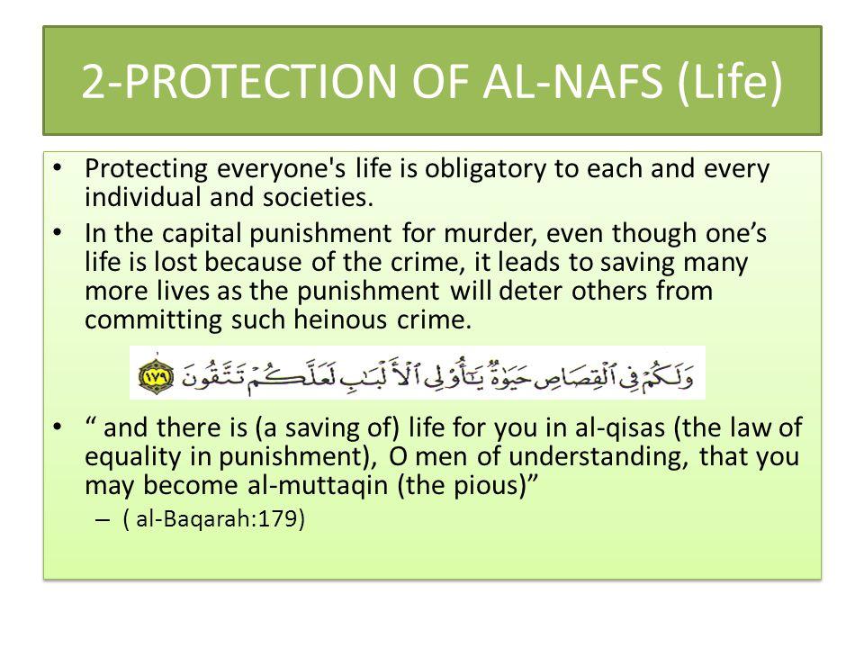2-PROTECTION OF AL-NAFS (Life)