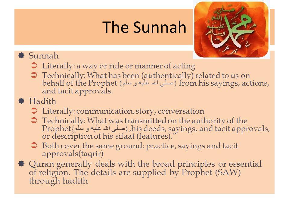 The Sunnah Sunnah Hadith