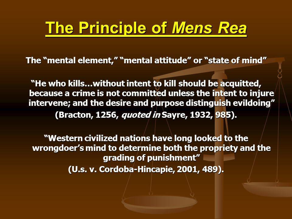 The Principle of Mens Rea