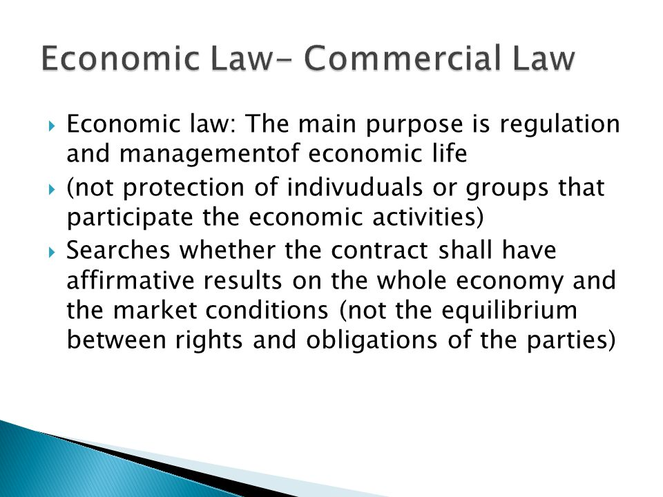 Economic Law- Commercial Law