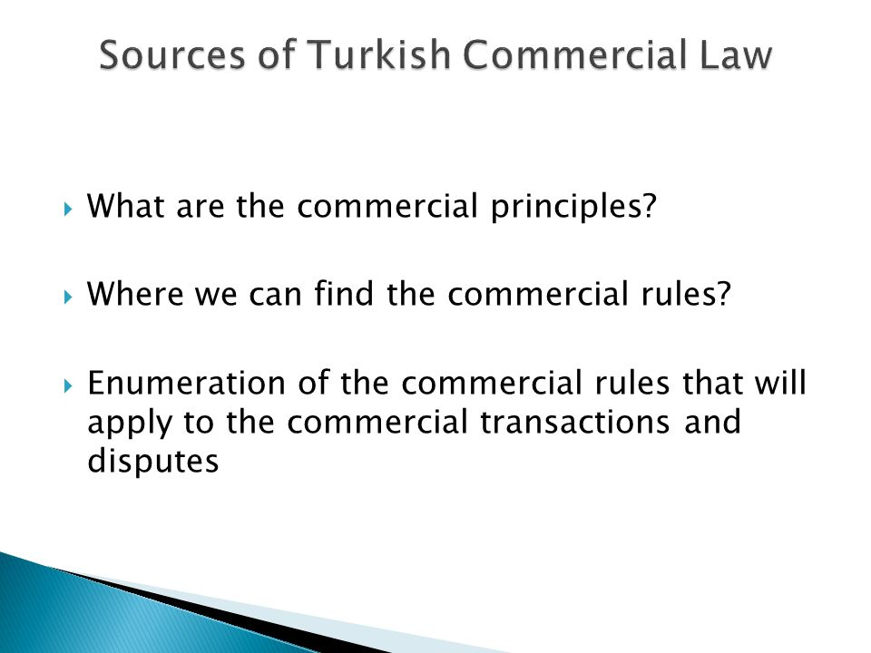 Sources of Turkish Commercial Law