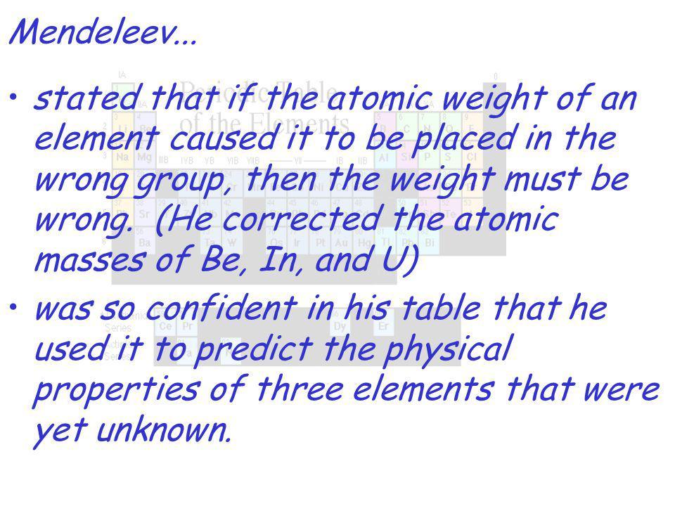 Mendeleev...