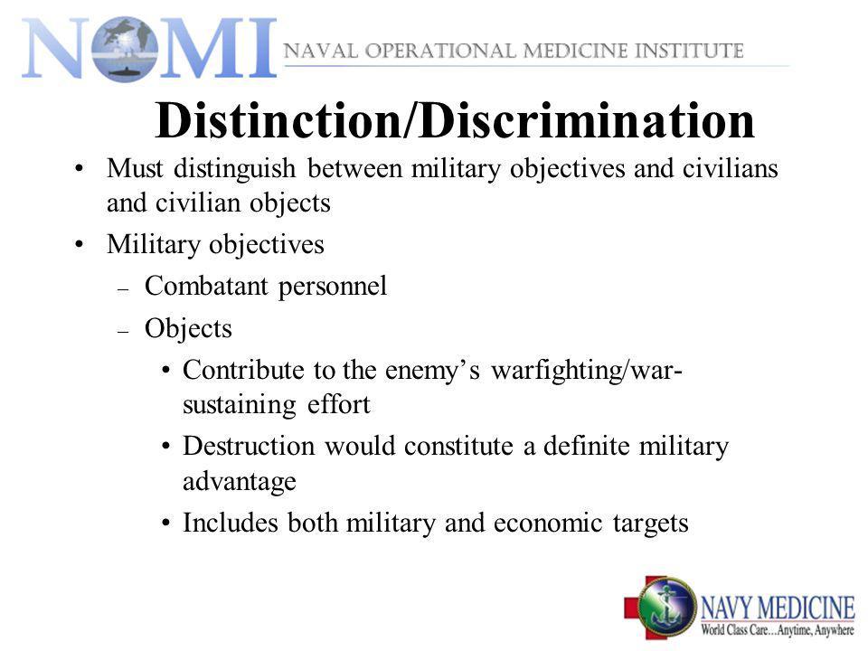 Distinction/Discrimination
