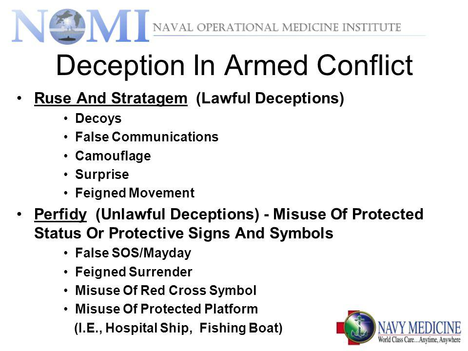 Deception In Armed Conflict