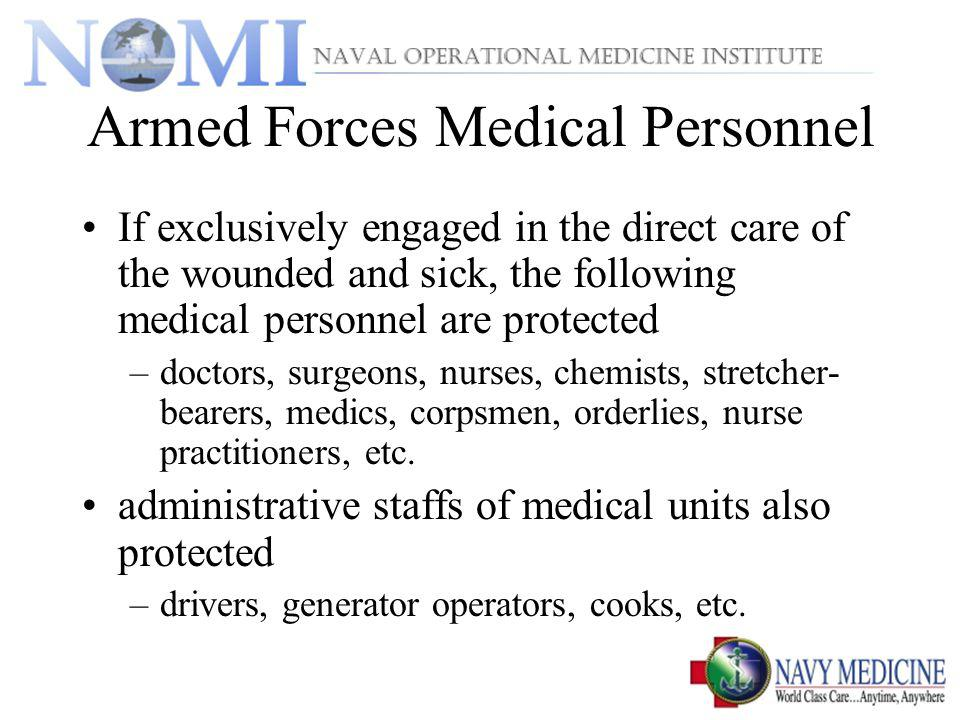 Armed Forces Medical Personnel