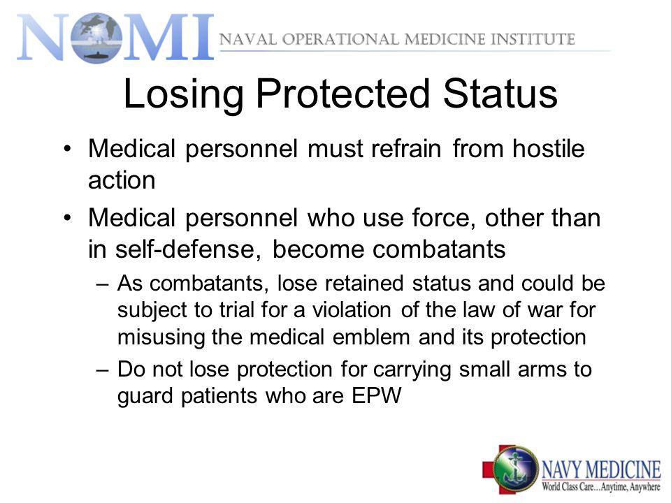 Losing Protected Status