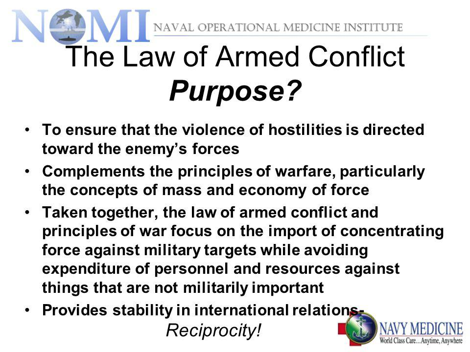 The Law of Armed Conflict Purpose