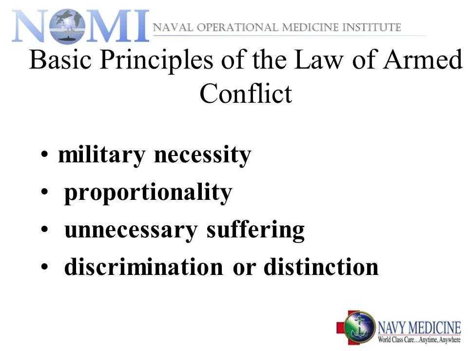 Basic Principles of the Law of Armed Conflict