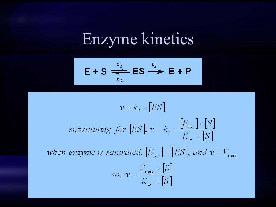 Enzyme kinetics