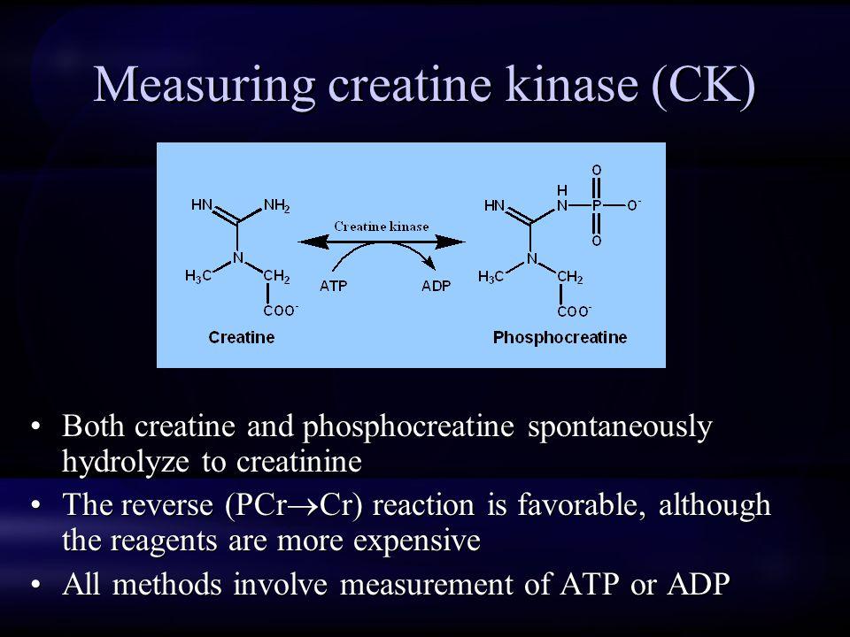 Measuring creatine kinase (CK)