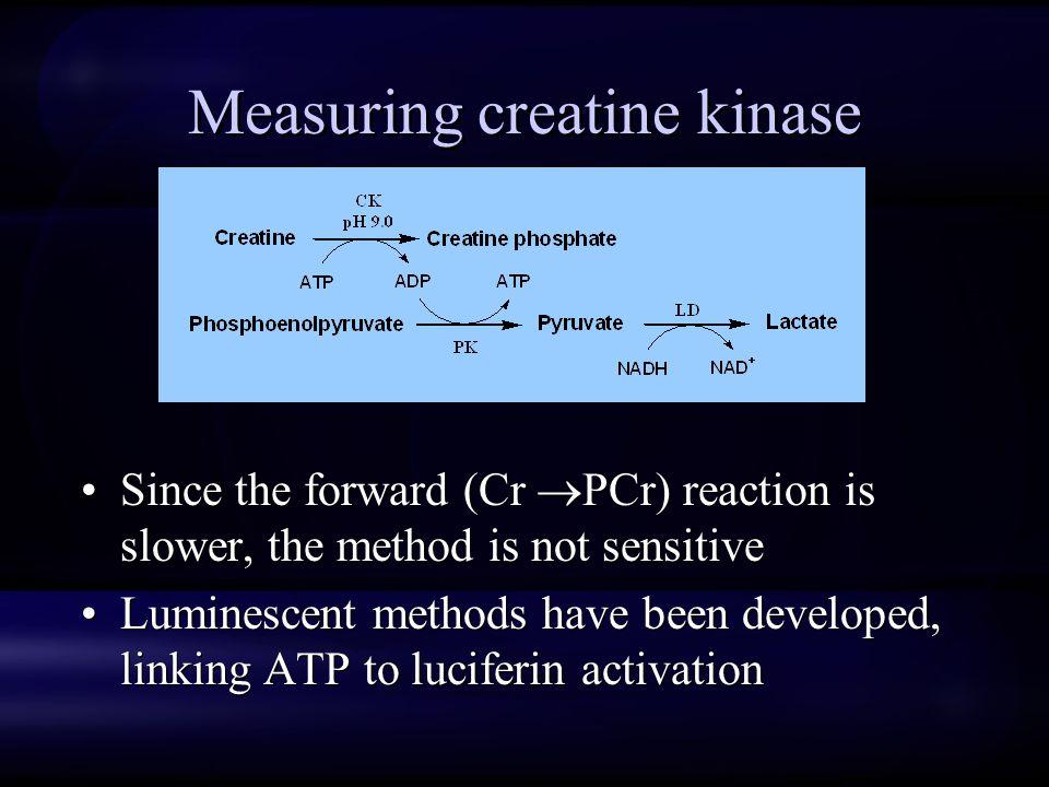 Measuring creatine kinase