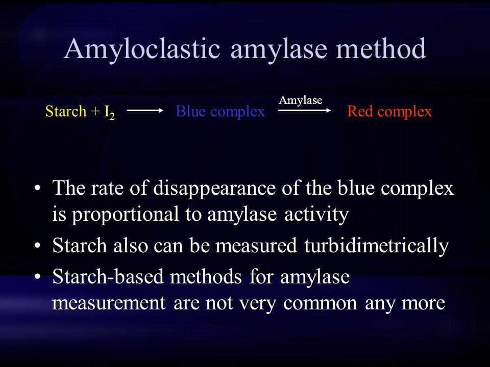 Amyloclastic amylase method