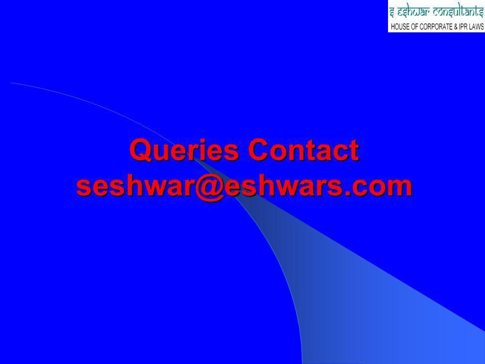 Queries Contact seshwar@eshwars.com