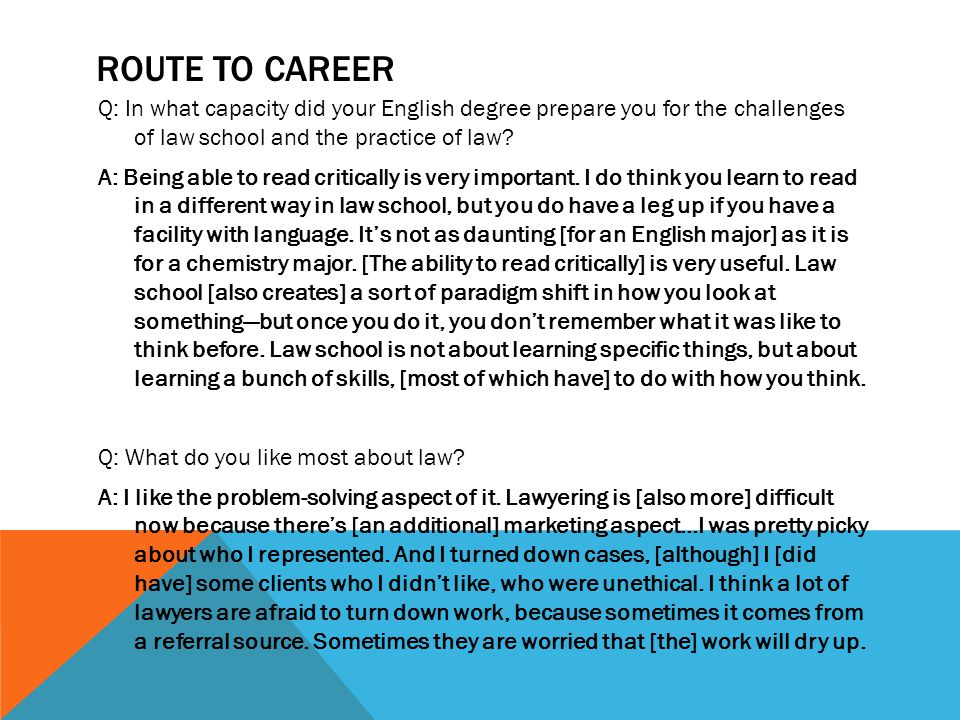 Route to career