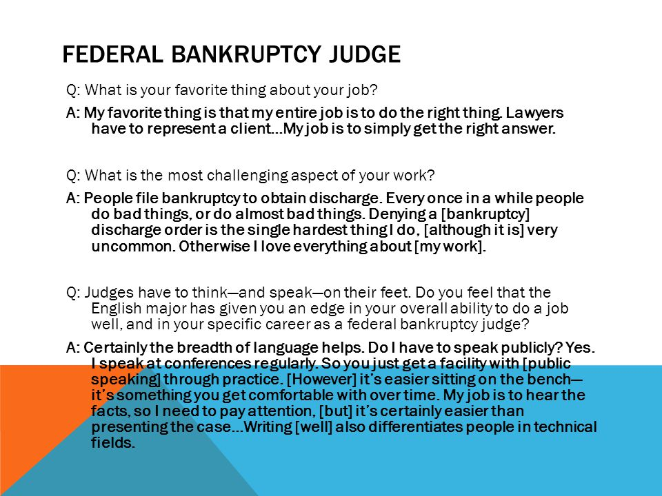 Federal Bankruptcy judge
