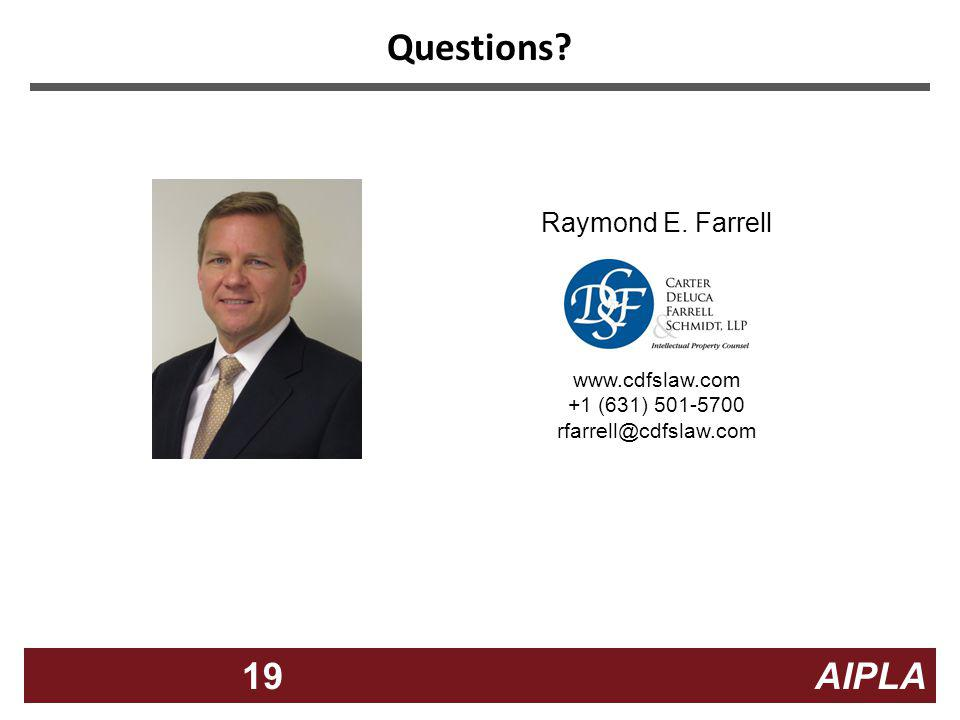 Questions Raymond E. Farrell www.cdfslaw.com +1 (631) 501-5700