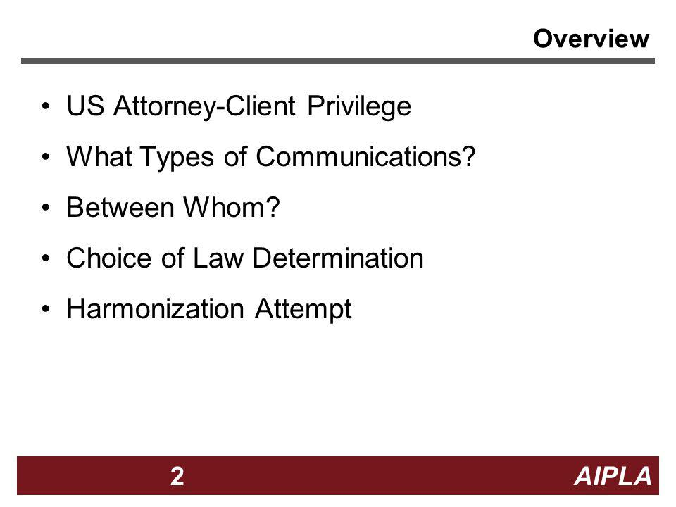 US Attorney-Client Privilege What Types of Communications