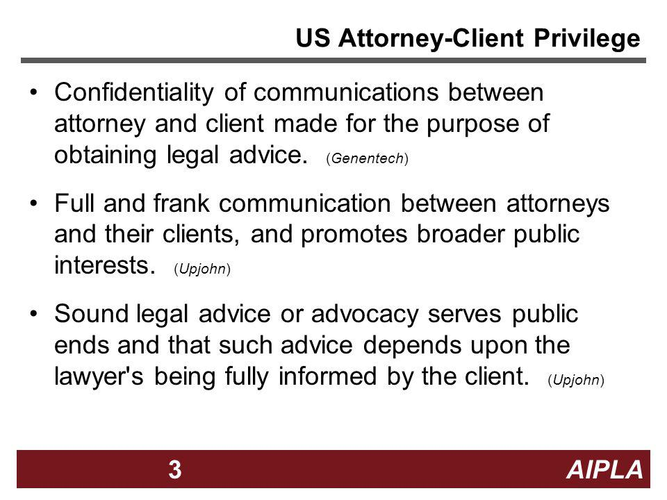 US Attorney-Client Privilege