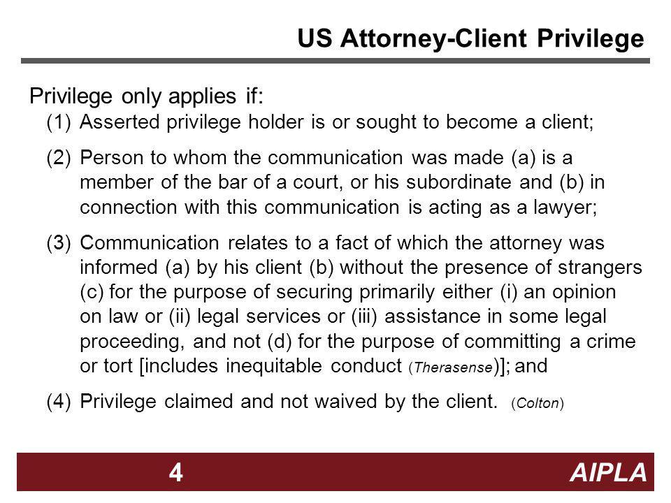 US Attorney-Client Privilege