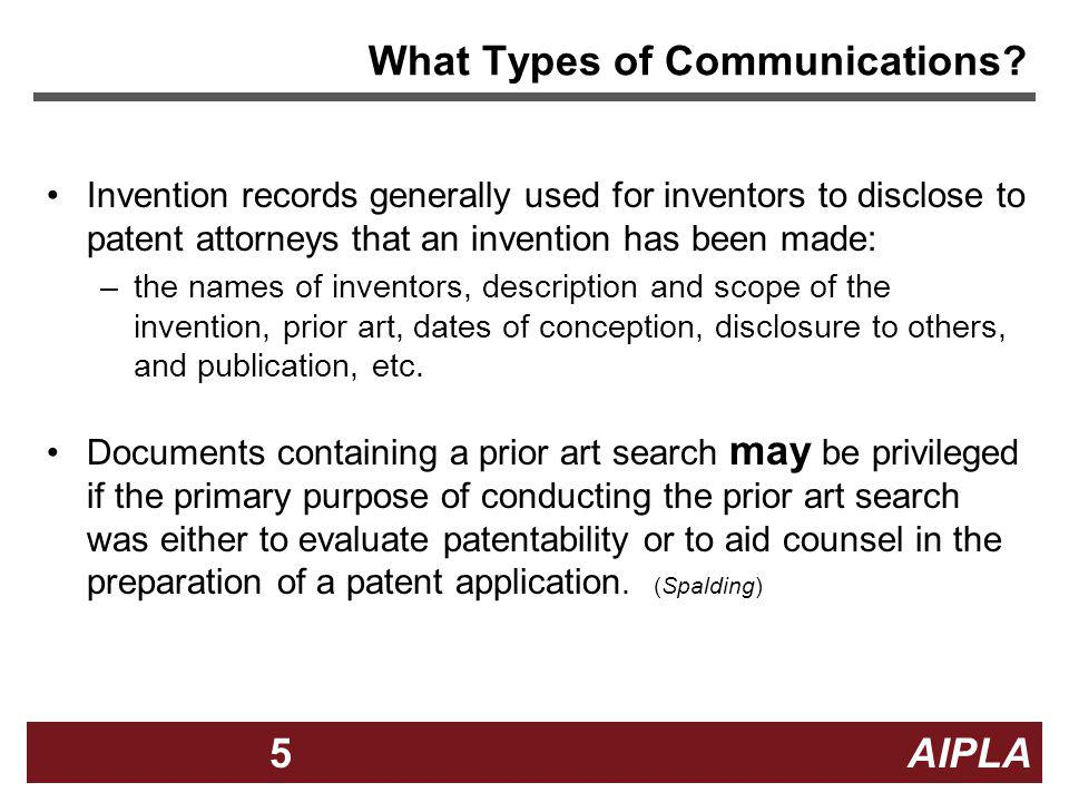 What Types of Communications