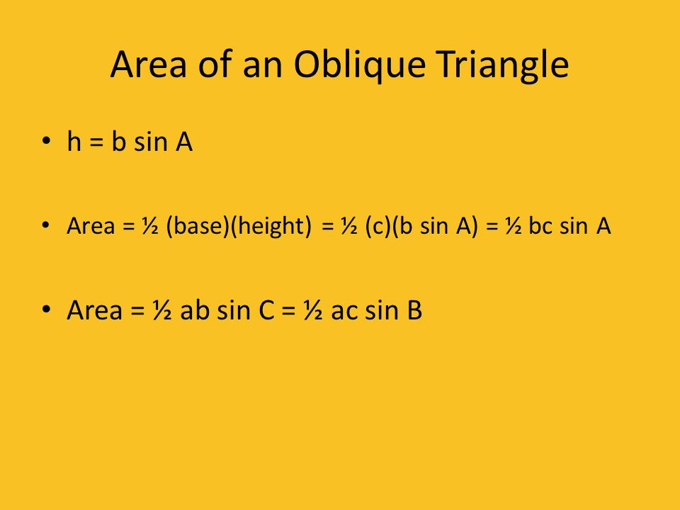 Area of an Oblique Triangle