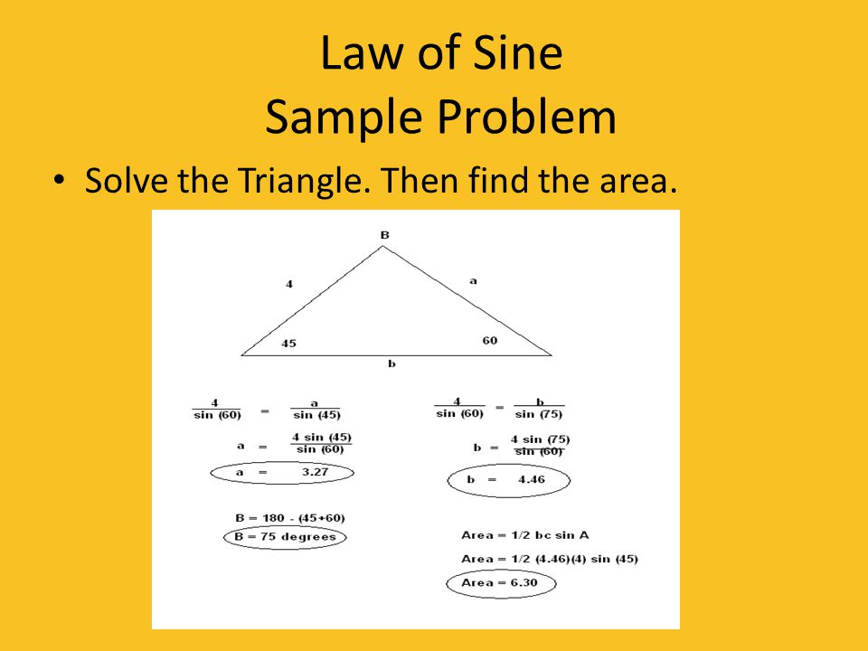 Law of Sine Sample Problem