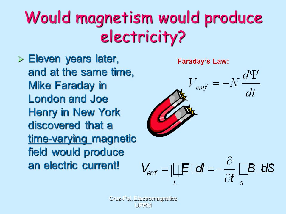 Would magnetism would produce electricity