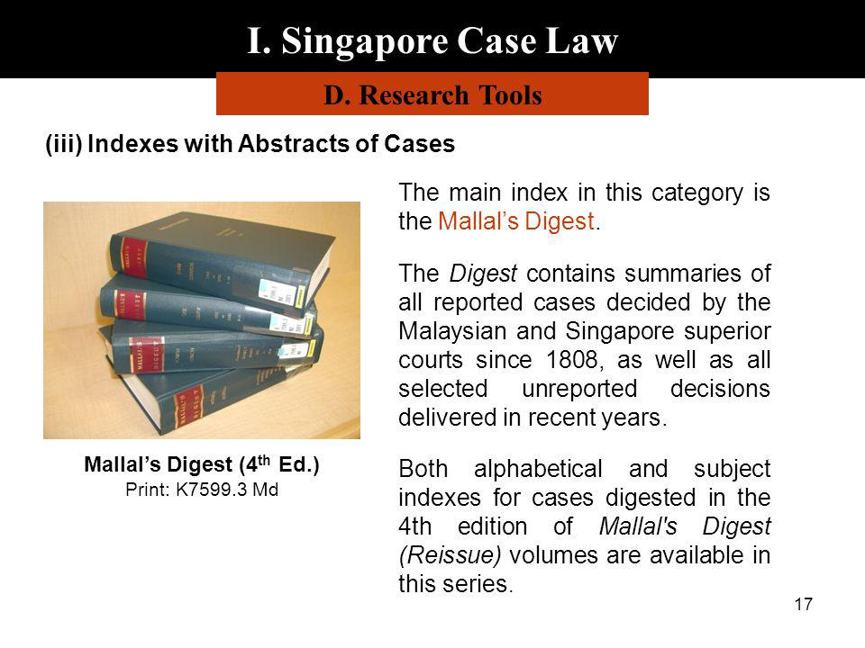 Mallal's Digest (4th Ed.) Print: K7599.3 Md