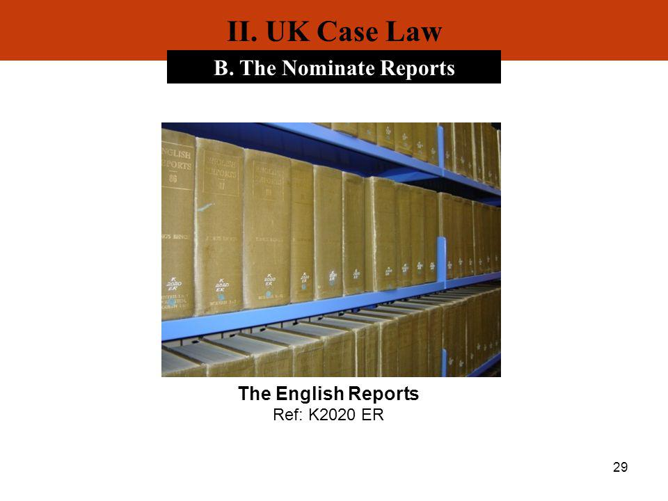 The English Reports Ref: K2020 ER
