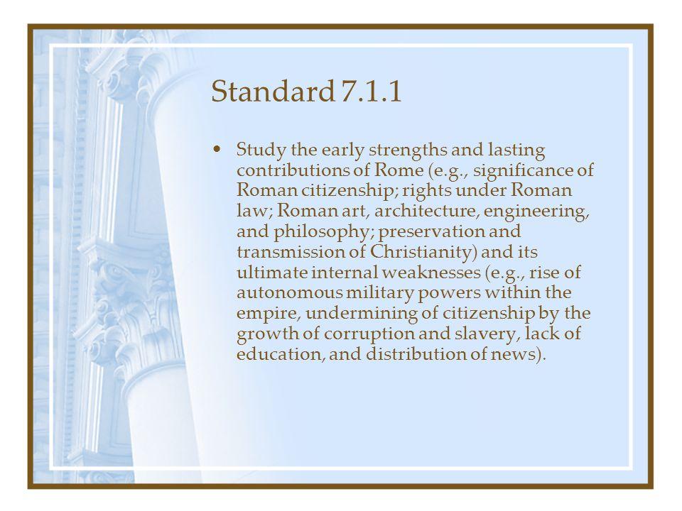 Standard 7.1.1